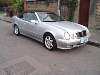 mercedes clk 320 convertible (comes with £800 private plate)