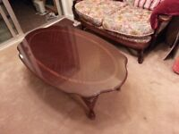 Mahogany Colour Coffee Table, immaculate condition