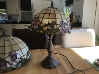 Tiffany table light and centre light