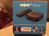 Brand new and sealed Now tv box with 1 month sky cinema