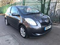 2008 TOYOTA YARIS 1.3 TR. 2 LADY OWNERS. 70K MILES ONLY. A/C. 2 KEYS. ALLOY WHEELS. ECONOMICAL.