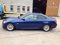 08 PLATE BMW 320I M SPORT 3DR COUPE 67000MILES FSH LER MANS BLUE £7500