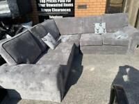 Stunning NEW grey corner sofa