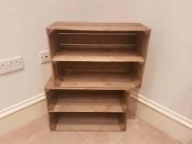 brand new apple crate storage/shelving/shoe racks