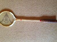 Vintage Dunlop Squash racket, rarely used, unmarked