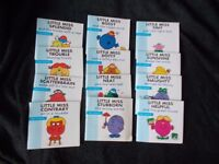 MR MEN LITTLE MISS BOOKS COMPLETE SET OF 12