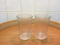 Two 20cl transparent glasses