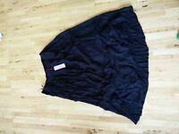 Full length crinkle skirt