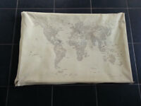 Special World Map Canvas - written in Capital Cities