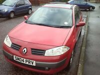 Renault Megane 1.6 VVT 2004 for sale or swap with a van