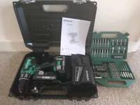 New Hitachi combi drill and drill bit set dv18dbfl2