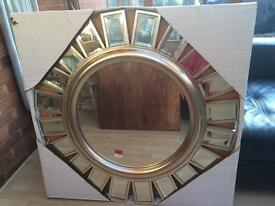 Stunning Large 'Sun' Circle Mirror -brand new!