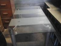 Solid glass table 150.00