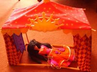 Disney Hunchback of Notre Dame Esmeralda Gypsy doll from Mattel with Festival tent