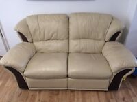 Great condition leather recliner sofa