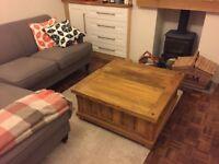 Oak coffee table/ storage trunk