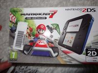 Nintendo 2DS Blue/Black + Mario Kart + 2 More Games /Fantastic Condition/