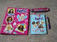 BRAND NEW Girls Bratz Back Pack With Notebook Pen Folder Eyc