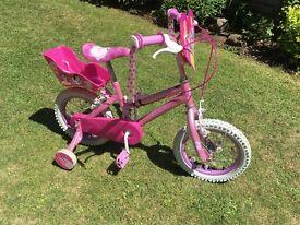 Princess bike & helmet (14inch wheels)