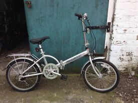 SILVER FOLDING BIKE FOR SALE