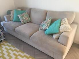 DFS grey 4 four seater sofa good condition