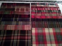 Tartan Fabric Craft Samples X 20