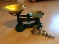 Vintage/ rustic weighing scales for the baking