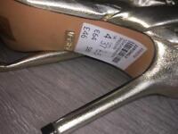 Gold Top Shop Heels Size 4