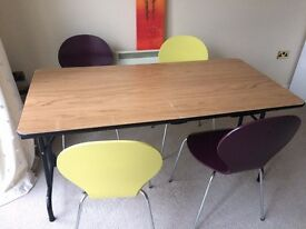 Wood dinning table and 4 chairs
