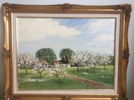 Oil painting of Kentish scene