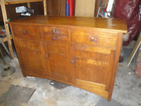 LARGE ANTIQUE WOODEN DRESSER CHEST OF DRAWERS