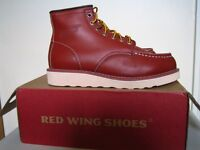Brand New Red Wing Men's size 6 - Classic Moc Rubber-soled Leather Boots - Burgundy