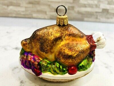 "Vintage Sur La Table ""Roasted Turkey"" Cardholder/Ornament 2005 Gorgeous!"