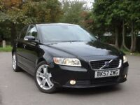 2007 Volvo S40 1.8 SE, 2 YEARS NATIONWIDE WARRANTY, BLACK WITH CREAM LEATHER not bmw mercedes honda