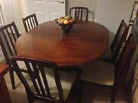 Solid Extendable Table & 6 Chairs