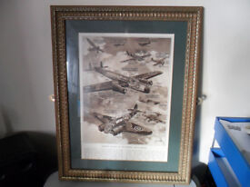 Original OLD Print Air Batlle 1939-45 PLANES OF THE POWERS GB