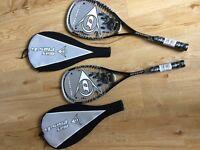 2 Brand new Dunlop Max Plus Ti squash rackets