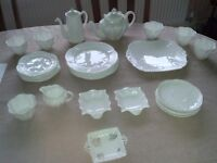 Shelley Dainty china in white - 30 items