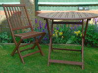Wooden Patio Set ( Table and 4 chairs -new)