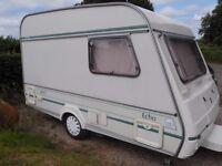 Compass echo 340/2 lightweight compact micro caravan.
