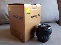 Nikon AF-S NIKKOR 50mm f/1.8G Lens MINT