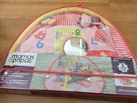 Mamas and Papas Girls Pink Baby Gym/Playmat with carry case