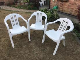 Garden Chairs X3