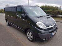 Vauxhall vivaro sportive black lwb sat nav no vat
