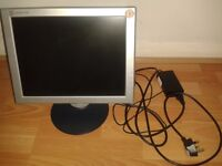 "15"" Flat Screen Monitor 12V with adapter"