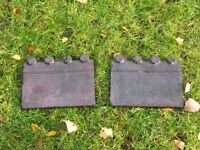 "Border edging tiles, Victorian (probably genuine), 9"" long by 7"" height, qty 24"