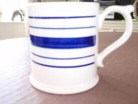 Blue and White Striped Ralph Lauren 1/2 pint Mug