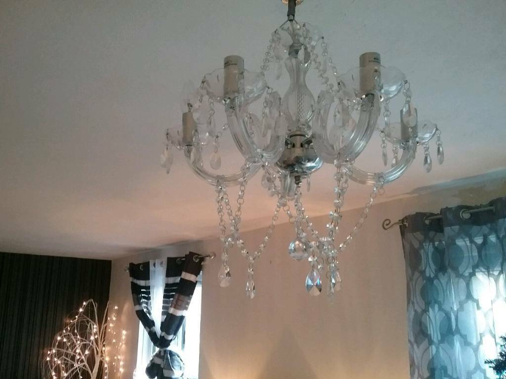 Light fitment - Crystal effect chandelier (from Argos)