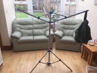 Collapsible 3 Arm Rotary Airer & Stand with own storage bag