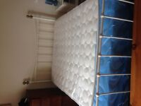 Metal framed double bed £30